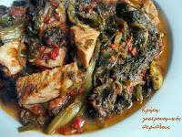 Γιαχνιστά χόρτα με καπνιστό κρέας - by https://syntages-faghtwn.blogspot.gr