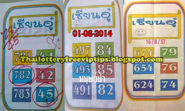 Thai Lottery Best Exclusive 3up and Down Tip Paper 16-08-2014