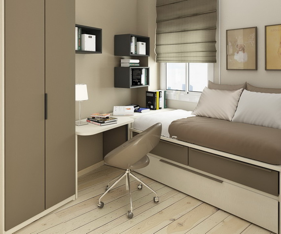 10 Creative Examples For Dividing Small Spaces: Intelligentes Petites Chambres Pour Enfants