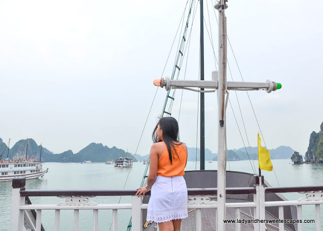 Lady in Halong Bay