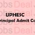 UPHESC Principal Admit Card 2017, Uttar Pradesh Principal Hall Ticket @site.uphesc.org