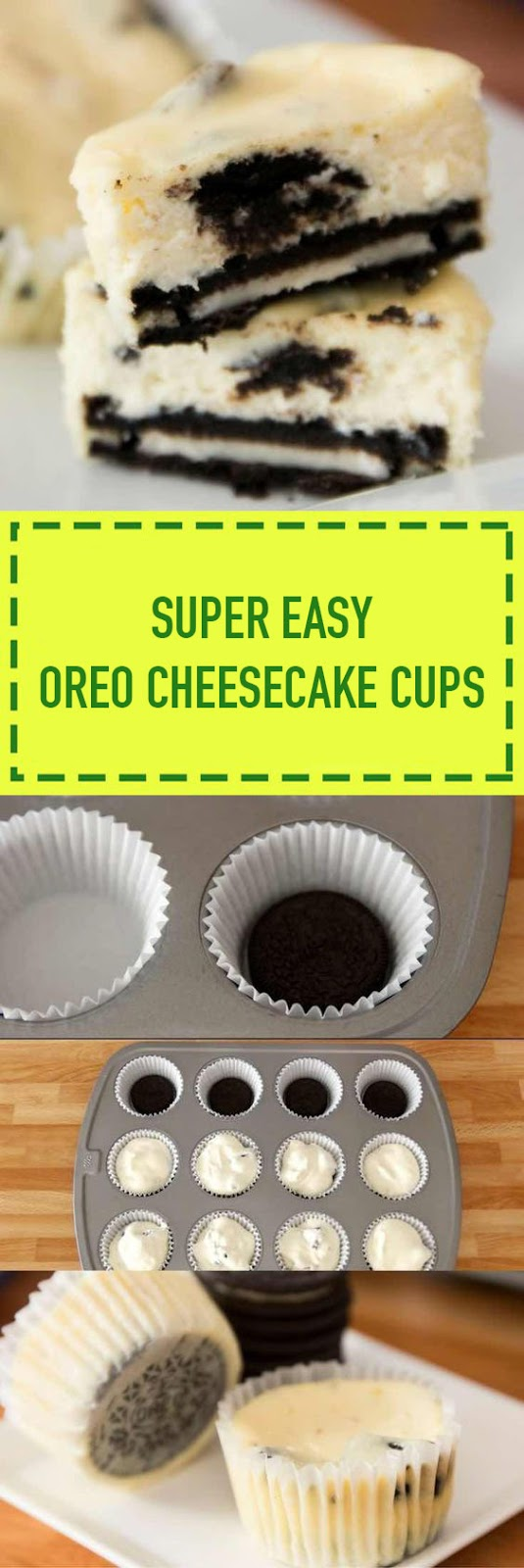 Super Easy Oreo Cheesecake Cups
