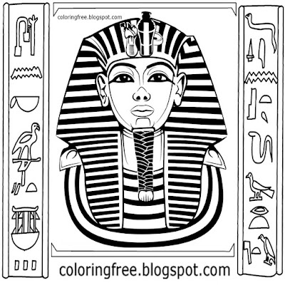 Clipart drawing royal clothing Egypt headdress Egyptian pharaoh king coloring pages for older kids
