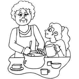 immagine per biglietto di auguri, anche le nonne sono mamme