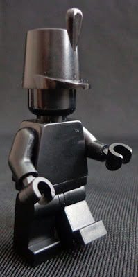 Black Monochrome Minifigure: Soldier