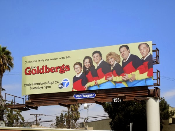 The Goldbergs series premiere billboard