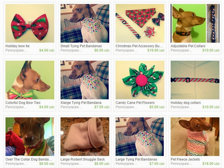 a sample of Penny's Paw Shop products