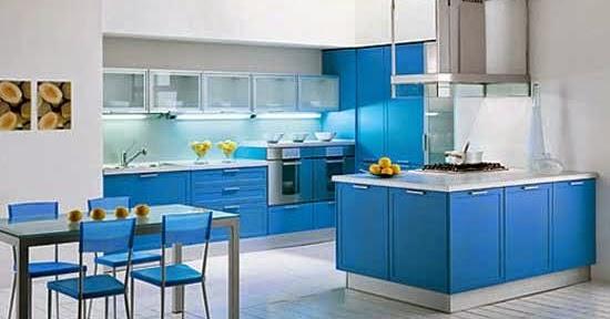 24 Gambar Dapur Minimalis Warna Biru Ide Terpopuler