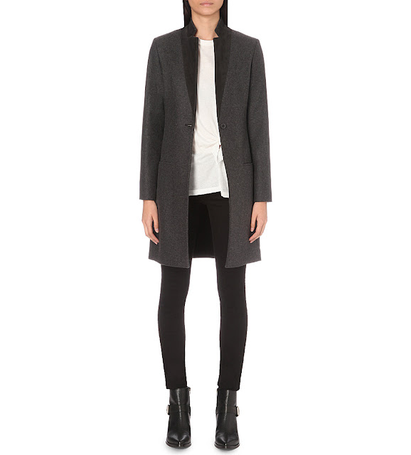 all saints Leni coat, all saints dark green coat,