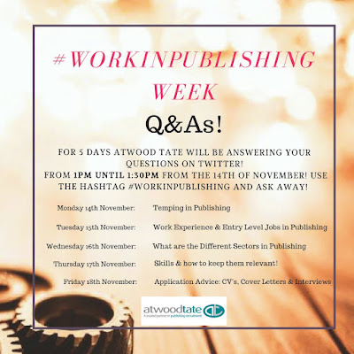 #WorkinPublishing Q&A Schedule Image