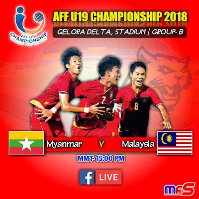 Live Streaming Malaysia vs Myanmar AFF U19 2018