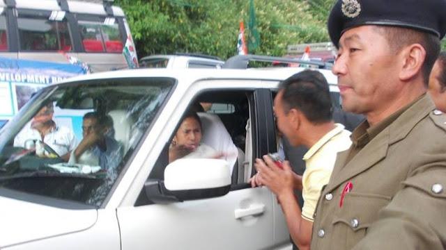 Mamata Banerjee in Darjeeling hills.