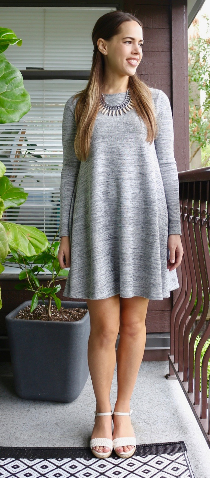 Jules in Flats - Old Navy Grey Swing Dress