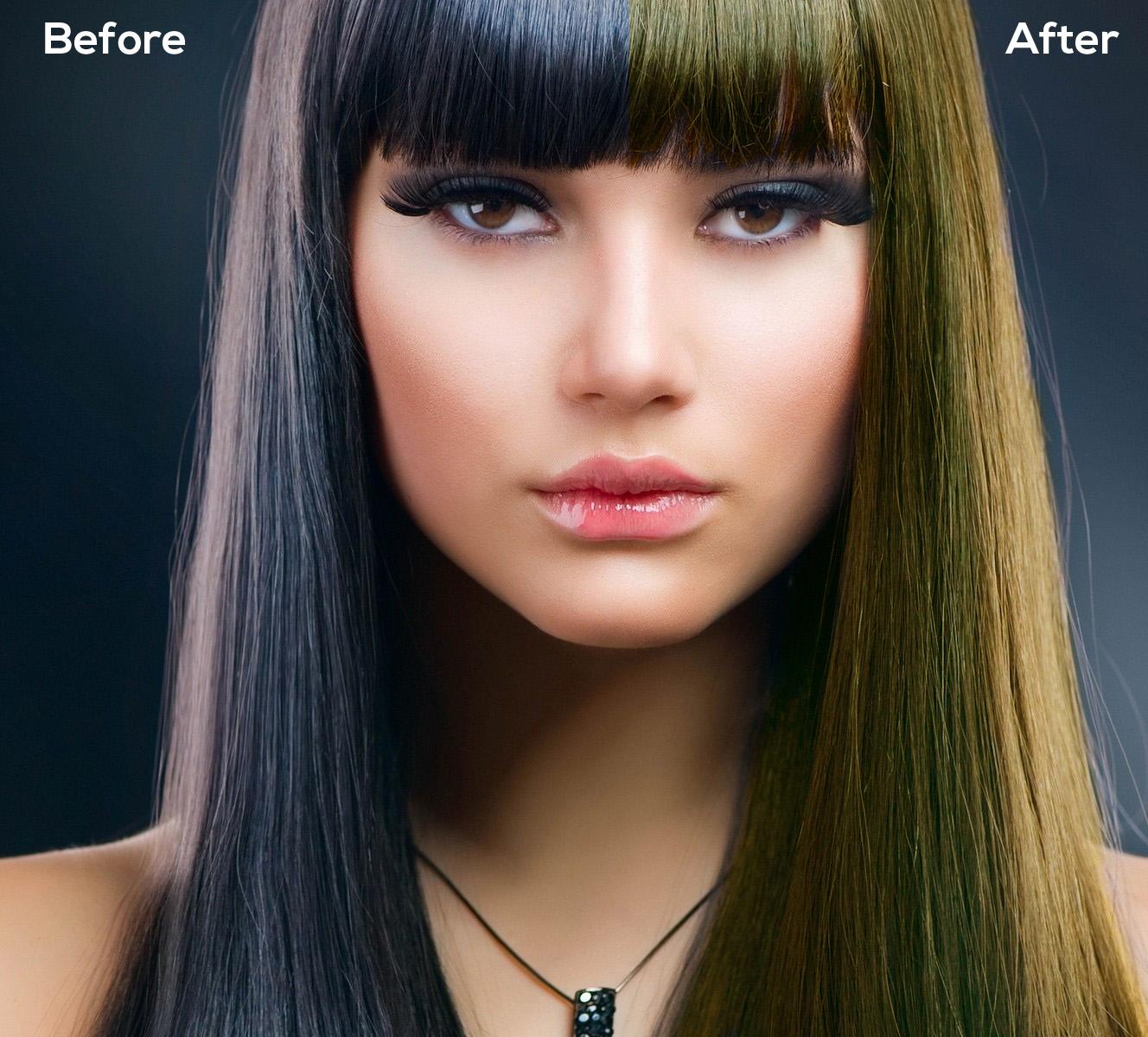 Cara Edit Warna Rambut Photoshop Tutorials