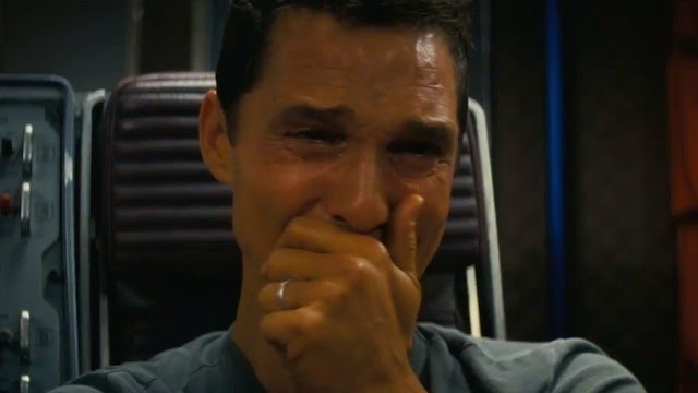 A Still from Interstellar: Cooper's (played by Matthew McConaughey) emotional outburst, Directed by Christopher Nolan