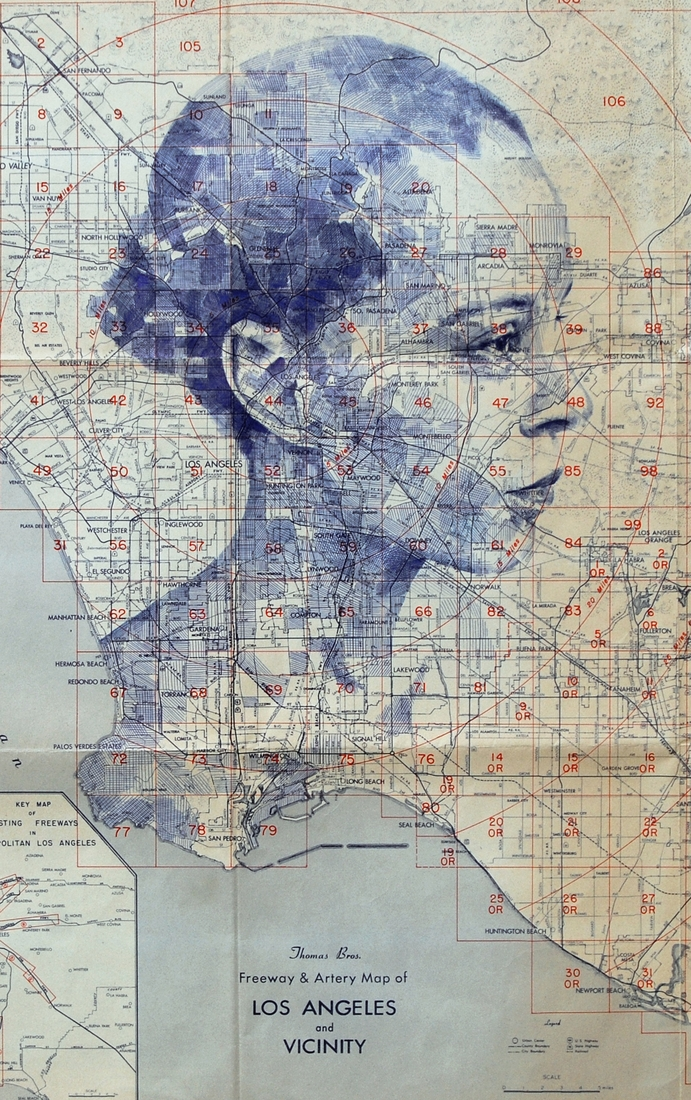 10-Los-Angeles-Edward-Fairburn-Maps-and-Cartography-linked-to-Portrait-Drawings-www-designstack-co