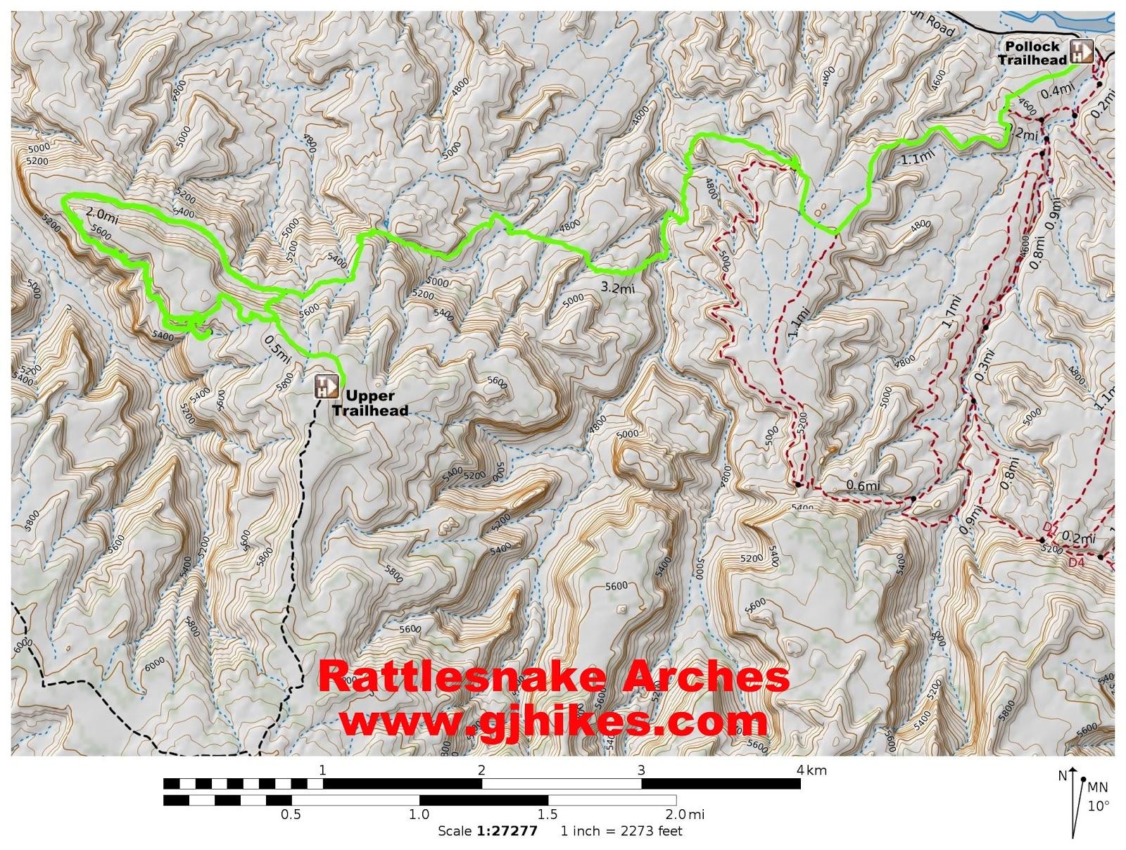 gjhikescom Rattlesnake Arches Upper Trailhead
