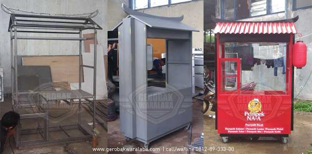 desain dan produksi booth pempek bandung