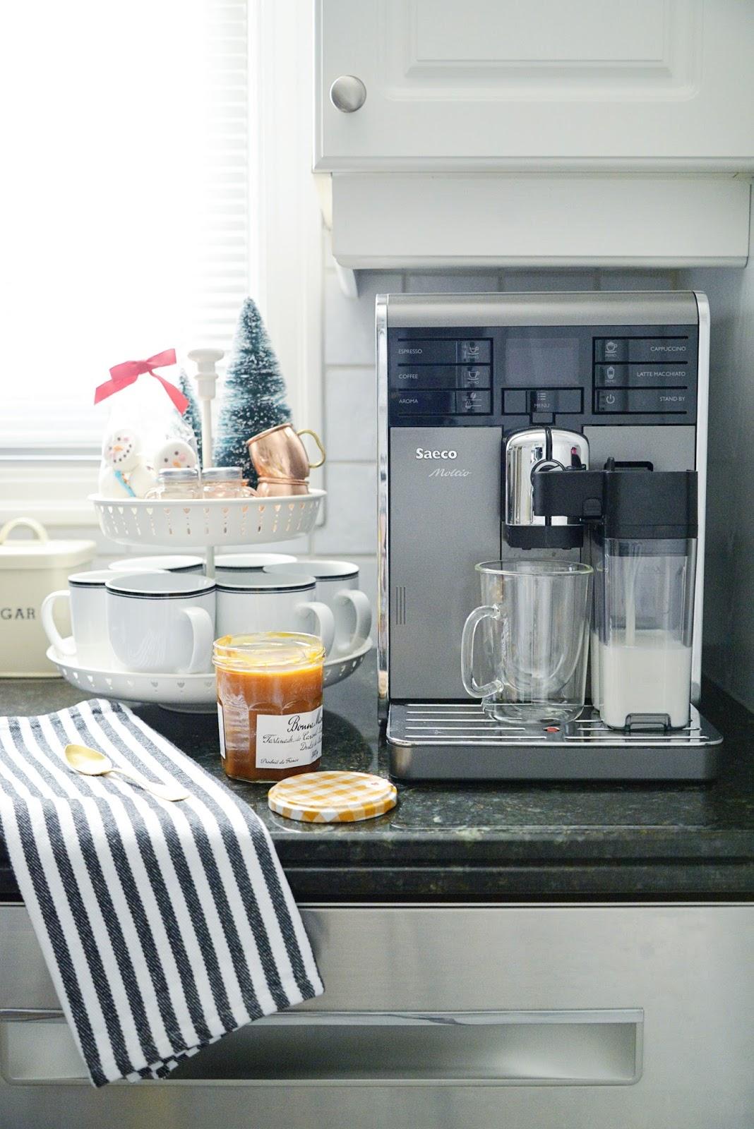 dulce de leche latte | saeco moltio espresso machine