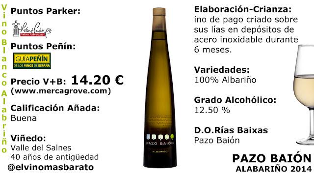 Comprar vino albariño pazo baión 2014 mejor vino balanco 2016 por verema