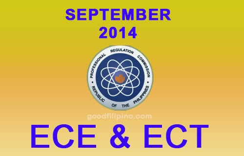 September 2014 Electronics Engineer (ECE) & Technician (ECT)  Board Exam Results