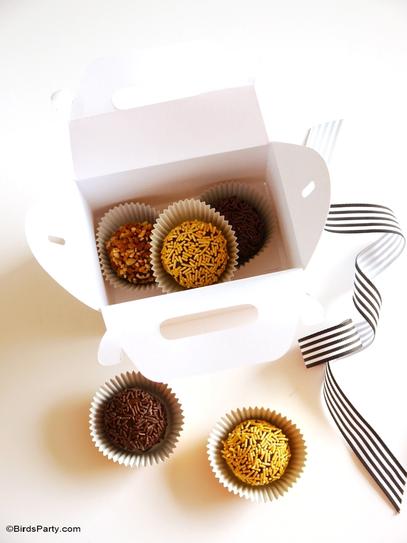 Party Food | Chocolate Brazilian Brigadeiro Truffles Recipe - BirdsParty.com