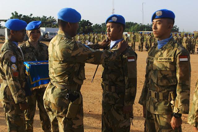 122 Prajurit Indobatt-03 Naik Pangkat di Afrika