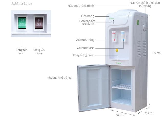 Hệ thống phân phối cây nước nóng lạnh Kangaroo KG3331, giá rẻ, uy tín nhất