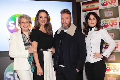 Betty Monteiro, Gabi Monteiro, Alexandre Herchovitch e a Chef Danielle Dahoui - Crédito da foto: Leonardo Nones/SBT