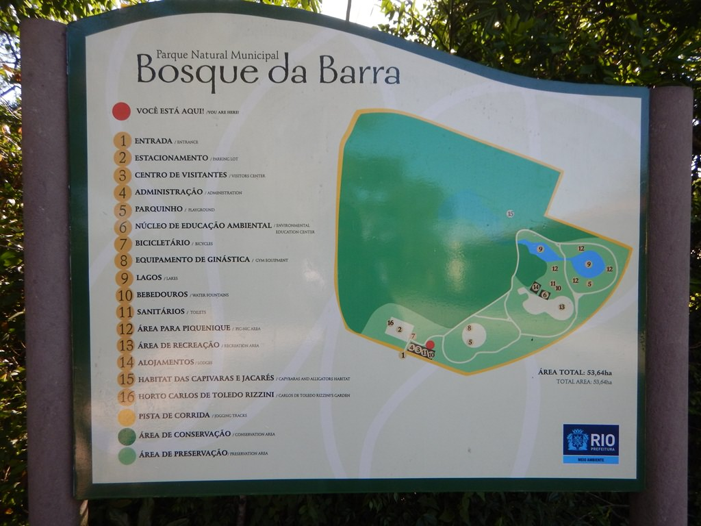 Mapa do Bosque da Barra
