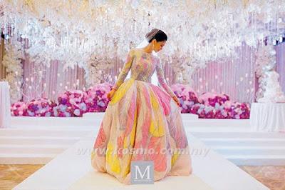 baju pengantin anzalna nasir, biodata anzalna nasir, gaun pengantin anzalna, wedding theme, barbie theme, fairytale theme