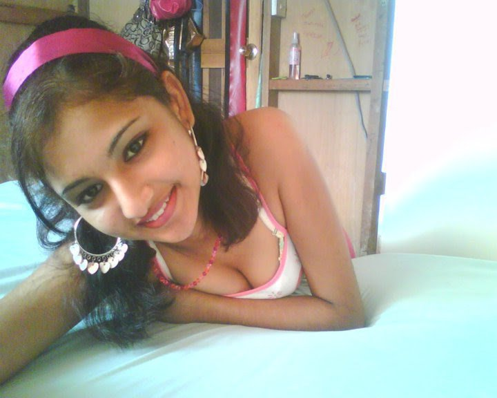 Indian Girl On Bed