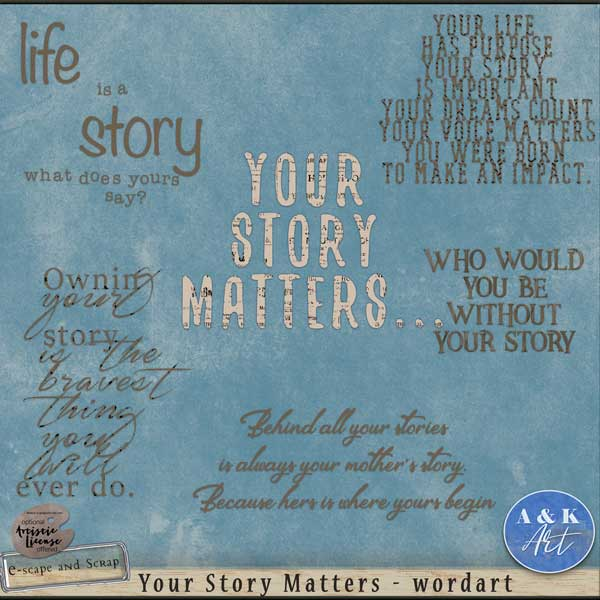 your story matters wordart