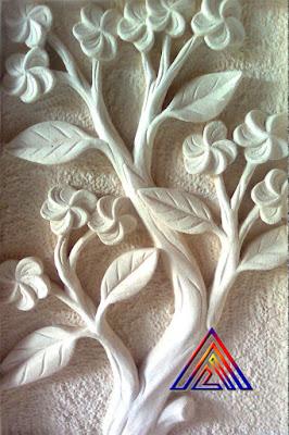 Relief Bunga Kamboja