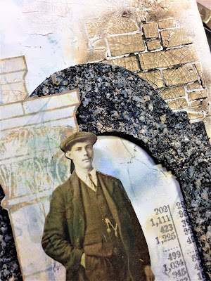 Sara Emily Barker http://sarascloset1.blogspot.com/ Before I Had My Coffee #timholtz #stampersanonymous #sizzixalterations #distressoxides Faux Marble Faux Granite 3