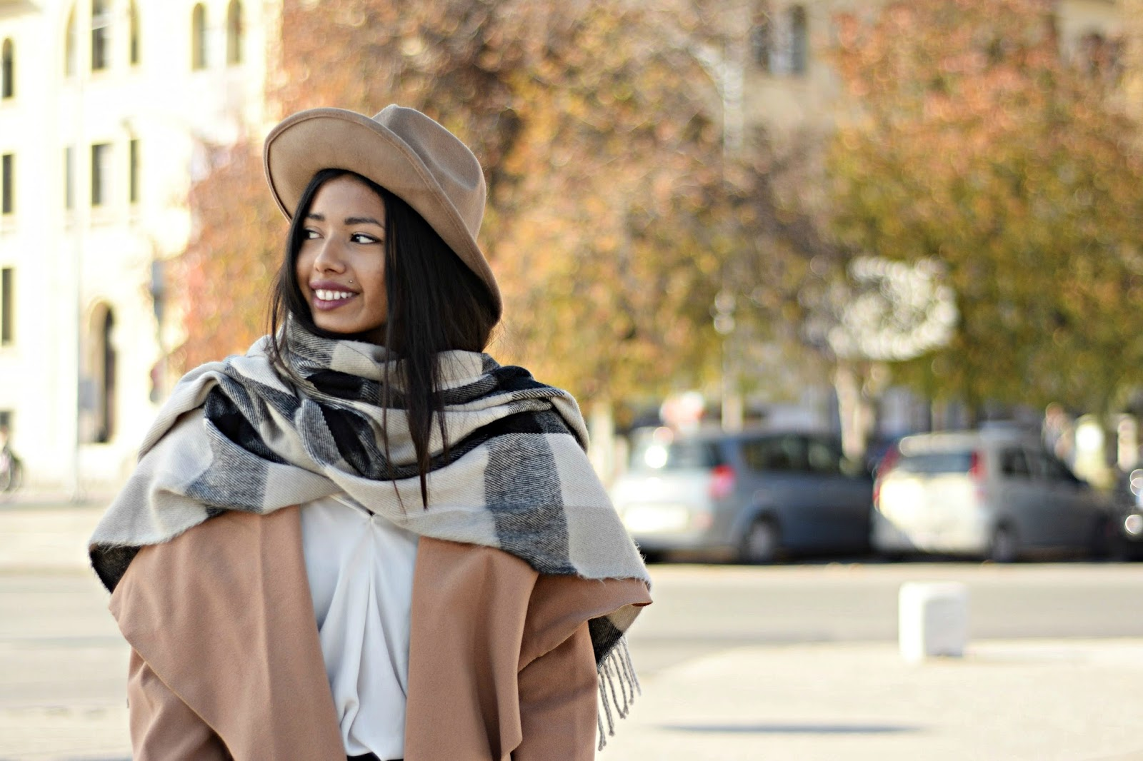 Rag and Bone fedora hat and camel coat