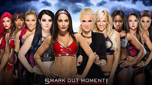 WWE WrestleMania 2016 Team B.A.D. and Blonde vs Team Total Divas