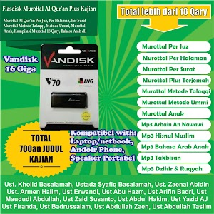 Flasdisk Murottal Al Qur'an Kajian Tp 600 16 Giga Merk Vandisk