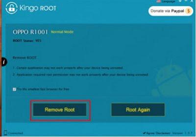 Cara Unroot android menggunakan kingo root