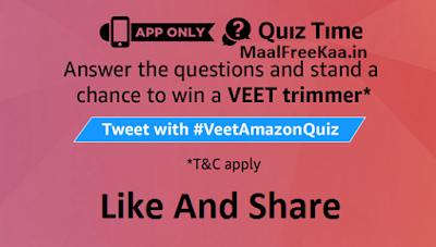 Quiz Time Win Veet Trimmer