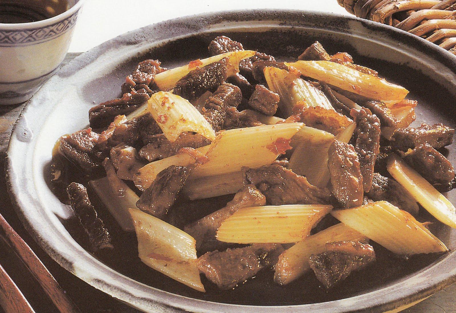 La cucina cinese manzo con sedano for Ricette in cucina