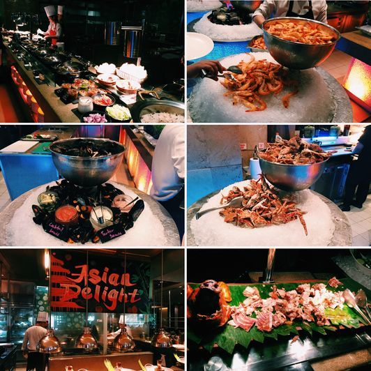 The seafood station at the Heat Restaurant of EDSA Shangri-La Hotel