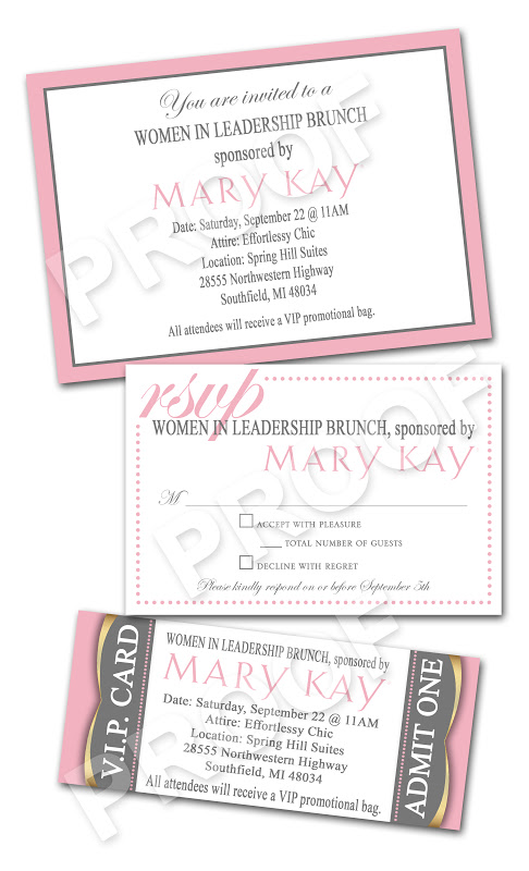 Paper Perfection Mary Kay Women In Leadership Brunch Invitations