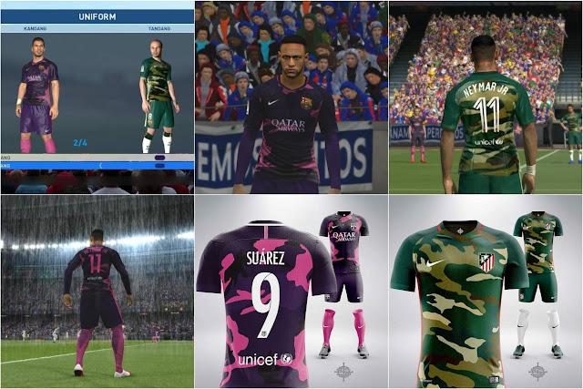 PES 2017 FC Barcelona Fantasy Kits by Ari Mochammad