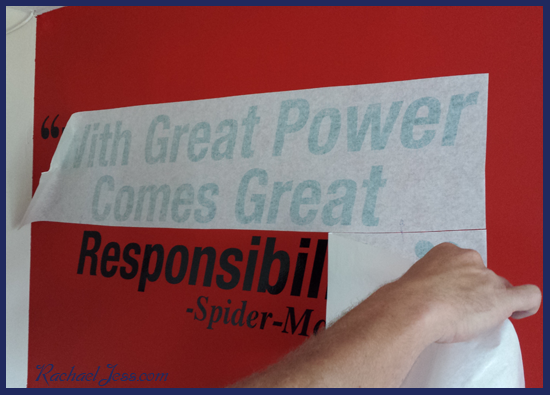 Creating a marvel themed bedroom with Spiderman Vinyl