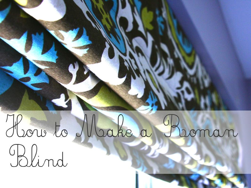 How To Sew A Roman Blind Markova Design