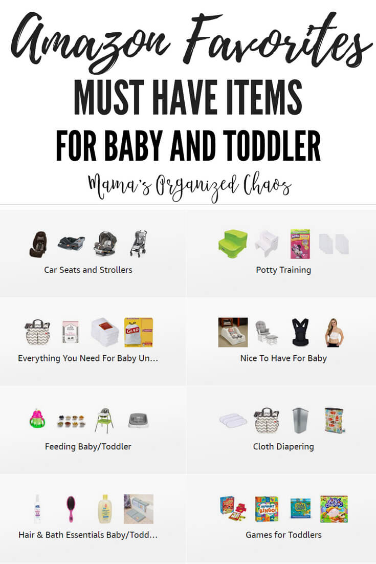 See all of my recommended and favorite products at this amazon page. I've organized everything into categories so things are easy to find! You'll find must haves for a new baby, our favorite car seats and strollers, everything you need for potty training, and so much more!