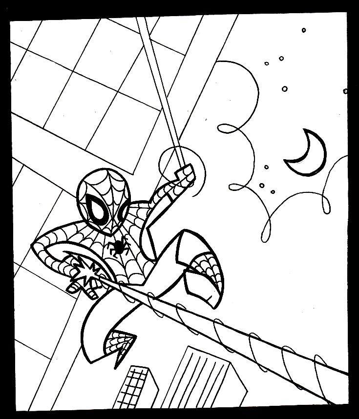 Iron Spider Coloring Pages Easy Coloring Pages  Iron Spider Col...