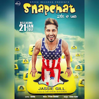 SNAPCHAT SONG: A Latest Punjabi Track on social massaging app in the voice of Jassie Gill composed by Preet Hundal while lyricsted by Babbu.