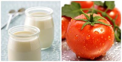 cà chua và sữa tươi